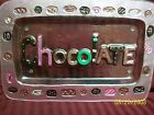 CHOCOLATE ART GLASS FUSION PLATTER/TRAY 14