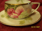 Vintage Rosenthal Donatello Hand Painted Tea Cup & Saucer - Signed - c.1920's