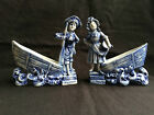 Antique German porcelain Pair of figurines with vase . Marked