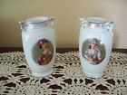 Vintage Antique Crown Victoria Austria Porcelain Vases Set of Two (2) 1900's
