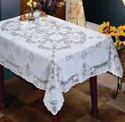 New Battenburg White Crochet Vinyl Lace Tablecloth Wipes Clean 70