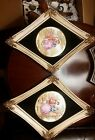Gorgeous Large Wood Framed Pair of Limoges Fragonard Porcelain Courting Couple