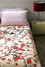 Urban Outfitters Cherry Blossom Bedspread Bed Cover Full / Queen Cotton
