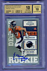 2010 Playoff Contenders Auto RC Eric Decker BGS 10 10 Auto - Pristine Condition