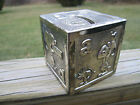 Leonard 1960's Silver Plated Snoopy Block Bank Peanuts Characters