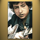 BOB DYLAN Original rare illustration Artist Signed print POP ART PAINTING 30 x18