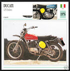 1976 Ducati 125cc Enduro Italy Bike Motorcycle Photo Spec Sheet Info Stat Card