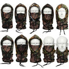 Camo Thermal Fleece Cold proof Tactical Hunting Cycling Hats Face Mask Balaclava