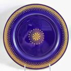 LOVELY 1884 ANTIQUE MINTON CHINA G4130 DINNER PLATE COBALT RAISED GOLD ENCRUSTED