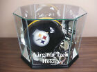 F S Virginia Tech Hokies Glass Football Helmet Display Case NFL NCAA UV