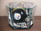 F S Virginia Cavaliers Glass Football Helmet Display Case NFL NCAA UV