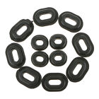 12pcs Black Rubber Side Cover Grommets Motorcycle Fairings for CG125 Honda