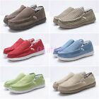 Free Mens Casual Driving Canvas Slip On Loafer Moccasins Sneaker Comfort Shoes