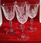 LOVELY SET OF 4 CUT CRYSTAL WINE/WATER GOBLETS - 7 1/4