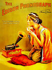 1888 The Edison Phonograph Promotional Advertising Poster