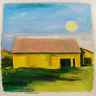ORIGINAL Yellow barn   LANDSCAPE  Painting  JMW art Williams Expressionism Farm