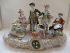 Large Sitzendorf Porcelain Figural Group Centerpiece 20