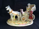 antique german figurine  Carriage  . Marked red mark 1859  + crown