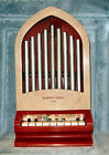 Vintage KATHEDRAL CHIMES Organ Piano Toy By Kusan - 1940s - 1050s