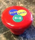 Vintage German Tiddlywinks Game W/ Instructions  Wood Mushroom Flow Spiel 6 X 6