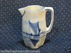 Vintage Porcelain Creamer Royal Manufactory Blue White Delft Dutch Sailing Boat