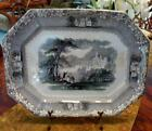 Antique 19th Century Staffordshire JENNY LIND Alpine Castle Transferware PLATTER