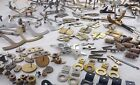 LARGE LOT OF VINTAGE / ANTIQUE CLOCK PIECES & PARTS FOR REPAIRS AND REPLACEMENT