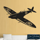 Wall Stickers Spitfire Aeroplane WW2 WWII Boys Cool Art Decals Vinyl Decor Room