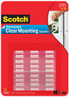 Scotch Removable Clear Mounting Squares Double Sided Adhesive Photo Safe 1 x 1