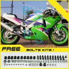 Green whtie Fairing Bodywork Plastic Kit fit Kawasaki ZXR250 1991-1998 4 D1
