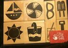 Close to my Heart Summer Beach Sailboat Ball Set of 8 Rubber Stamps