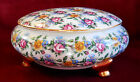 VINTAGE ITALIAN PORCELAIN BOWL WITH LID**BEAUTIFUL FLORAL DESIGN WITH GOLD TRIM