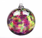 Kitras CALICO WITCH BALL WINTER CARNIVAL Blown Glass