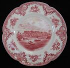 JOHNSON BROTHERS china OLD BRITAIN CASTLES pink crown mark Luncheon Plate 8-7/8