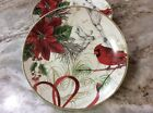 222 Fifth Holiday Wishes Dessert Plates. Set Of 4. Porcelain. Beautiful. New.