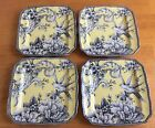 222 Fifth Square Dessert Plates. Adelaide Yellow. Set Of 4. Beautiful. New