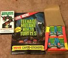1990 Topps TMNT Trading Cards Factory Box NEW 36 Packs with movie Poster and VHS