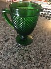 Ivima 1895 Hand Made Hobnail Green Glass Pitcher Made in Portugal NEW