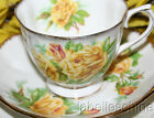 Royal Albert England Tea Rose Yellow Teacup and Saucer Fancy English Bone China