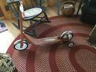 VINTAGE RETRO RED RADIO FLYER SCOOTER MODEL #38 WITH TRAINING WHEELS ON