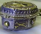 MUSEUM 18th C. Silver Memento Mori Skull Verge Fusee watch by J.L.Patron