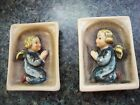 PAIR VTG GOEBEL GERMANY PRAYING ANGEL PLAQUES HX69/0A AND B CROWN
