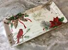 Holiday Wishes Serving Platter. 222 Fifth. Porcelain. Beautiful, New.