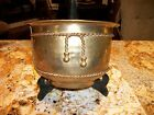 SOLID BRASS WALL PLANTER w/ ROPE TRIM, Made in India, REDUCED!!