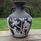 Wedgwood Antique Large Black Jasperware Portland Vase