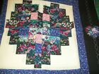 Cotton Quilt Panel HEARTS SQUARED pillow panels or quilt blocks 2