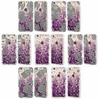 HEAD CASE SILVER HOLIDAY PURPLE GLITTER CASE FOR APPLE iPHONE SAMSUNG PHONES