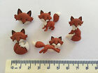 Novelty Dress It Up Buttons - Brown foxes with white tails - 8293