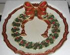 Fitz & Floyd Essentials Christmas Wreath/ Ribbon Canape Plate/ Wall Hanging
