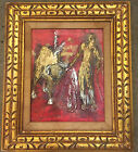 Oil Painting Picasso Style Vintage signed Corsini? Spanish Bullfighter